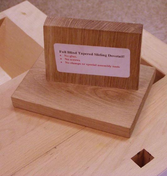 Full Blind Tapered Sliding Dovetail Joint Assembled